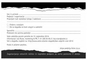 Astec / vabilo-prijavnica DOV 2014