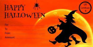Gift Certificate / Halloween