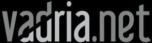 logotip Vadria.net sivine na crni