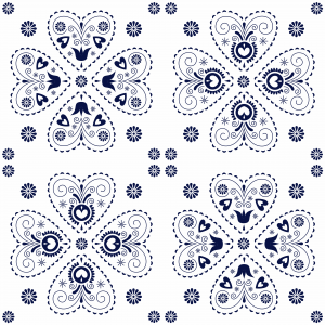 motif heart blue negativ