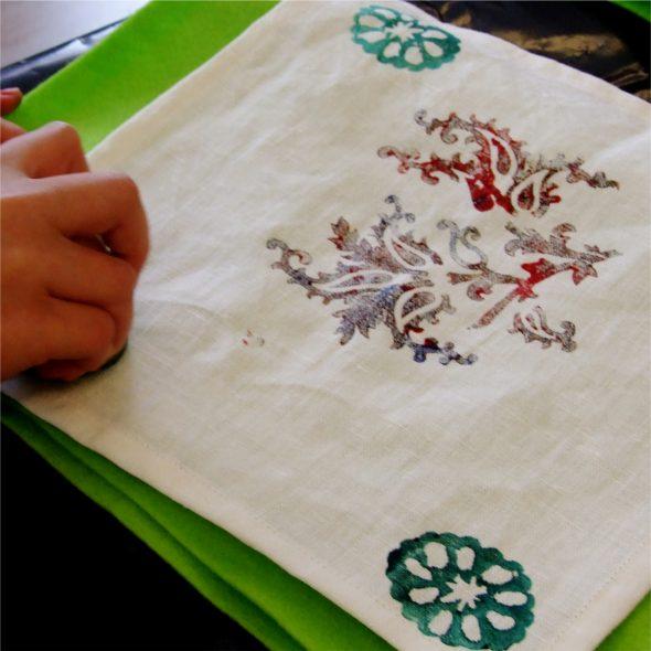 delavnice - ročni potisk tkanin